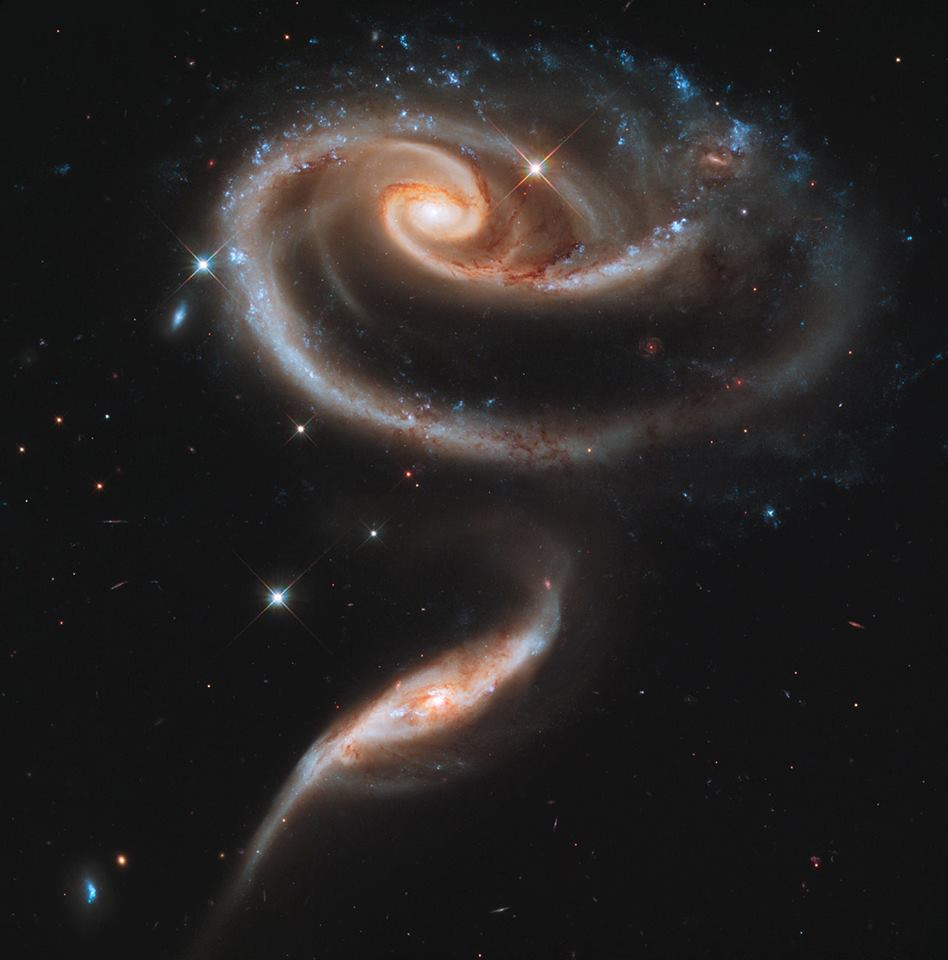 arp 220 - Credit NASA - ESA and the Hubble Heritage Team - STScIAURA