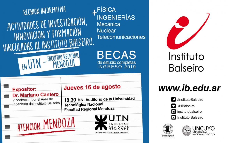 El Balseiro dará una charla en Mendoza sobre ciencia y tecnología
